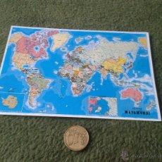 Mapas contemporáneos: PEQUEÑA HOJA PUBLICIDAD MAPAMUNDI MAPA MUNDI MAPAS ESCOLARES DEL MUNDO AÑOS 80 90. Lote 42936720
