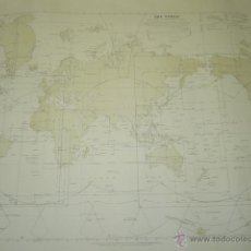Mapas contemporáneos: THE WORLD. INDEX TO GENERAL CHARTS PUBLISHED BY THE ADMIRALTY. Lote 42985748