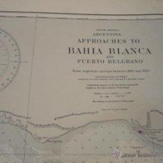 Mapas contemporáneos: SOUTH AMERICA. ARGENTINA APPROACHES TO BAHIA BLANCA AND PUERTO BELGRANO. Lote 42986017