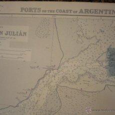 Mapas contemporáneos: PORTS ON THE COAST OF ARGENTINA: SANTA CRUZ - PUERTO SAN JULIÁN. RISO SANTA CRUZ - PUERTO SANTA CRUZ. Lote 43051160