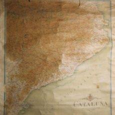 Mapas contemporáneos: MAPA DE CATALUÑA EN PAPEL DESPLEGABLE. GRABADO POR EDUARDO BROSSA. 1920. . Lote 43090129
