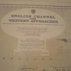 Mapas contemporáneos: ENGLISH CHANNEL AND WESTERN APPROACHES NAUTICAL CHART. Lote 13882576