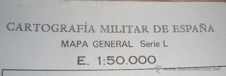 Mapas contemporáneos: MAPA CARTOGRAFIA MILITAR SERVICIO GEOGRAFICO DEL EJERCITO HOSPITALET - Foto 2 - 43373622