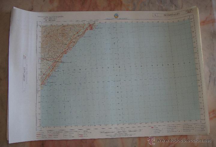 Mapas contemporáneos: MAPA CARTOGRAFIA MILITAR SERVICIO GEOGRAFICO DEL EJERCITO HOSPITALET - Foto 4 - 43373622
