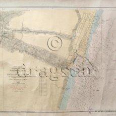 Mapas contemporáneos: MAPA DEL GRAO Y CASTELLON DE 1961 TAMAÑO 30X40. Lote 43523386