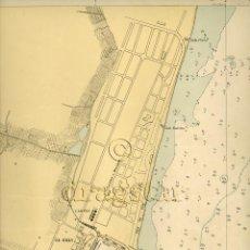 Mapas contemporáneos: MAPA DEL GRAO Y CASTELLON DE 1961 TAMAÑO 30X40. Lote 43523395