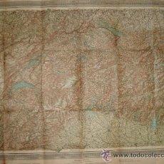 Mapas contemporáneos: EUROPA ALPINA - SEGUNDA GUERRA MUNDIAL - MAPA - SUIZA ALEMANIA AUSTRIA. Lote 43545039