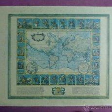 Mapas contemporáneos: LAMINA MAPAMUNDI 1972. Lote 43630836