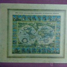 Mapas contemporáneos: LAMINA MAPAMUNDI 1972. Lote 43630973