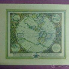 Mapas contemporáneos: LAMINA MAPAMUNDI 1972. Lote 43631103