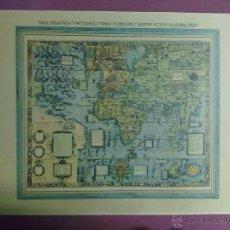 Mapas contemporáneos: LAMINA MAPAMUNDI 1972. Lote 43631425