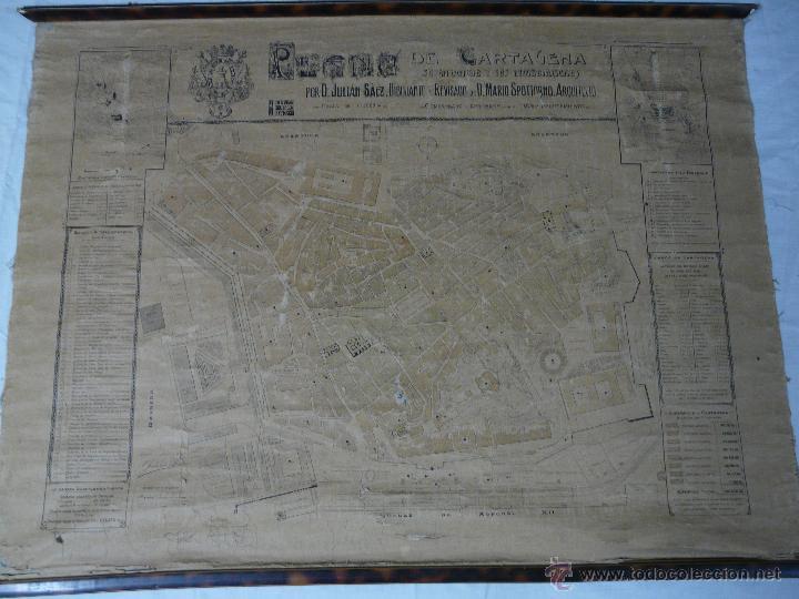 Mapas contemporáneos: PLANO DE CARTAGENA SUS ENSANCHES Y MEDIDAS PRINCIPIOS SIGLO XX - 1000-087 - Foto 2 - 61551835