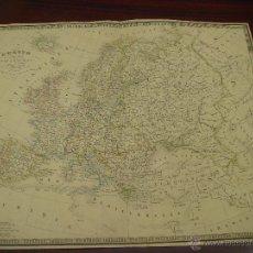 Mapas contemporáneos: ANTIGUO MAPA GEOGRÁFICO EUROPE. A. H. DUFOUR (1798 – 1865). PARIS. SIGLO XIX.. Lote 43848588