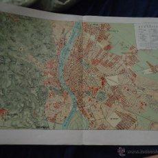 Mapas contemporáneos: ENCICLOPEDIA ILUSTRADA SEGUI - DOBLE LAMINA - MAPA PLANO BUDAPEST. Lote 44205144
