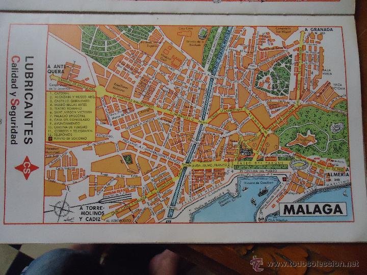 Mapa Callejero De Malaga.30x18 Cm Antiguo Mapa Callejero De Los Anos 60 Comprar Mapas Contemporaneos En Todocoleccion 44206230