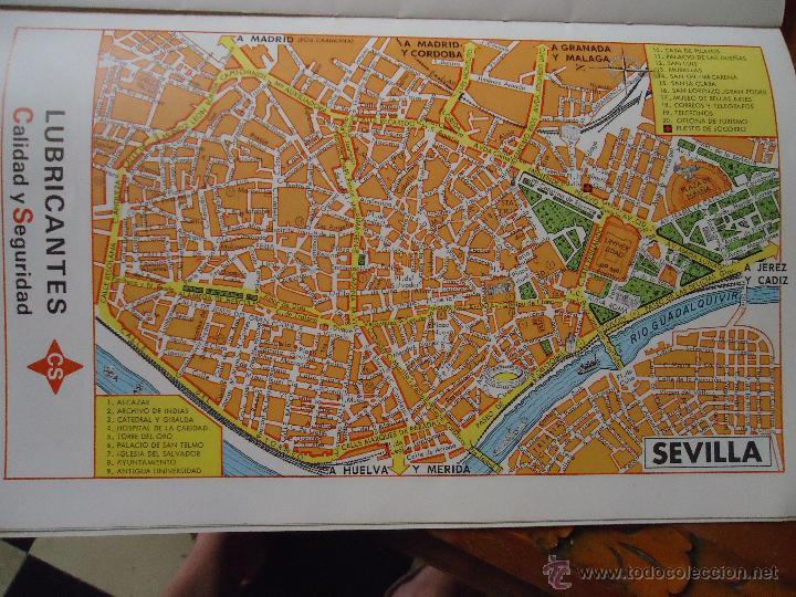 Mapa Callejero De Sevilla.30x18 Cm Antiguo Mapa Callejero De Los Anos 60 Aproximados Sevilla