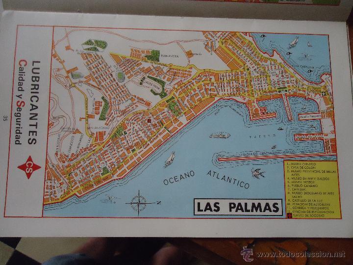 Callejero Mapa De Las Palmas.30x18 Cm Antiguo Mapa Callejero De Los Anos 60 Vendido En