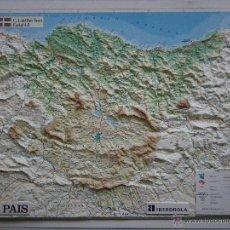 Mapas contemporáneos: MAPA EN RELIEVE DE PAIS VASCO - EUSKALERRIA, ESCALA 1:285000, 45X62, SIN USAR. Lote 44305206