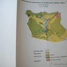 Mapas contemporáneos: PLANO GEOLÓGICO-INVESTIGACIÓN HIDROLÓGICA EN ALCORA POR EL MÉTODO SÍSMICO - 24 X 32 CM.. Lote 44623187