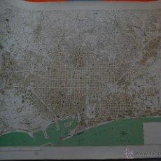 Mapas contemporáneos: MAPA LA BARCELONA DE LOS AÑOS 60 - 1967 - VER INTERIOR - 60 X 45 CM.. Lote 72861379