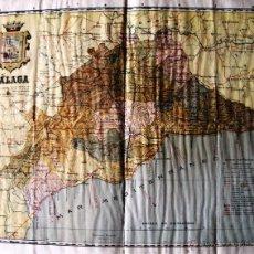Mapas contemporáneos: ANTIGUO MAPA DE MALAGA SEGÚN DATOS DEL INSTITUTO GEOGRAFICO Y CATASTRAL. Lote 44827587