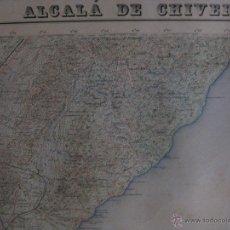 Mapas contemporáneos: MAPA ALCALA DE CHISVERT, CASTELLON . AÑOS 60. GRAFICOS OLIVAR,LIMITE PROVINCIA, ENERGIA ELECTRICA. Lote 44838332