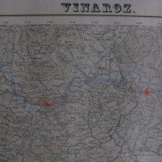 Mapas contemporáneos: MAPA VINAROZ, CASTELLON . AÑOS 60. GRAFICOS OLIVOS,LIMITE PROVINCIA, ENERGIA ELECTRICA. Lote 44838360