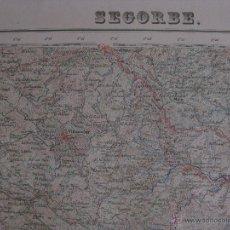 Mapas contemporáneos: MAPA SEGORBE, CASTELLON . AÑOS 60. GRAFICOS OLIVAR, ALGARROBOS, LIMITE PROVINCIA, ENERGIA ELECTRICA. Lote 44838628