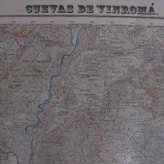Mapas contemporáneos: MAPA CUEVAS DE VINROMA, CASTELLON . AÑOS 60. GRAFICOS OLIVAR,LIMITE PROVINCIA, ENERGIA ELECTRICA. Lote 44838726