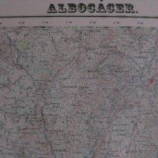 Mapas contemporáneos: MAPA ALBOCACER, CASTELLON .AÑOS 60.GRAFICOS OLIVAR, VIÑA, PASTOS,LIMITE PROVINCIA, ENERGIA ELECTRICA. Lote 44838759