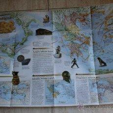 Mapas contemporáneos: MAPA. NATIONAL GEOGRAPHIC. GRANDES PUEBLOS DEL PASADO. LOS GRIEGOS. GRECIA ANTIGUA. . Lote 44971836