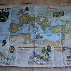 Mapas contemporáneos: MAPA. NATIONAL GEOGRAPHIC. GRANDES PUEBLOS DEL PASADO. LOS ROMANOS. EL IMPERIO ROMANO.. Lote 44971876