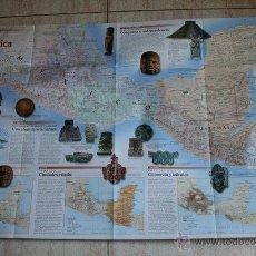 Mapas contemporáneos: MAPA. NATIONAL GEOGRAPHIC. GRANDES PUEBLOS DEL PASADO. LOS MESOAMERICANOS. ANTIGUA MESOAMÉRICA.. Lote 44971990