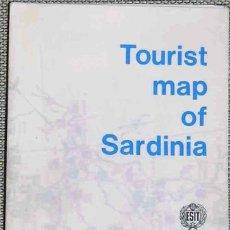 Mapas contemporáneos: CERDEÑA: TOURIST MAP 1969. Lote 45065416