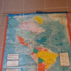 Mapas contemporáneos: MAPA DE AMÉRICA POLÍTICO Y FÍSICO. 1971. Lote 45066965