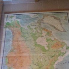 Mapas contemporáneos: MAPA DE AMÉRICA DEL NORTE FÍSICO. 1967. Lote 45067048