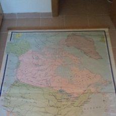 Mapas contemporáneos: MAPA DE AMÉRICA DEL NORTE POLÍTICO. 1965. Lote 45067082
