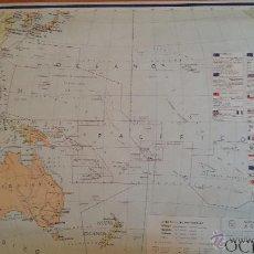 Mapas contemporáneos: MAPA DE OCEANÍA POLÍTICO. 1966. Lote 45067121