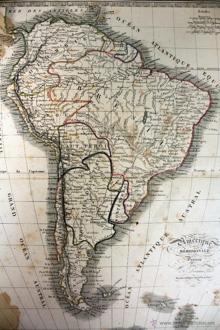 mapa grabado américa del sur (circa 1870) en fr - Kaufen ...