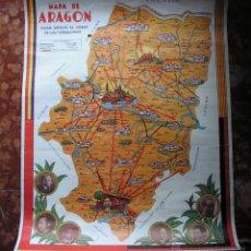 Mapas contemporáneos: MAPA ARAGON MEDIDA 58CMX44,5CM. Lote 45299952