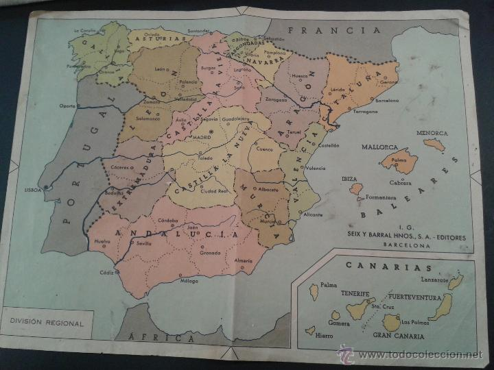 Mapa De España Bonito.Bonito Mapa De Espana En Papel Fuerte Debe Ser Vendido En