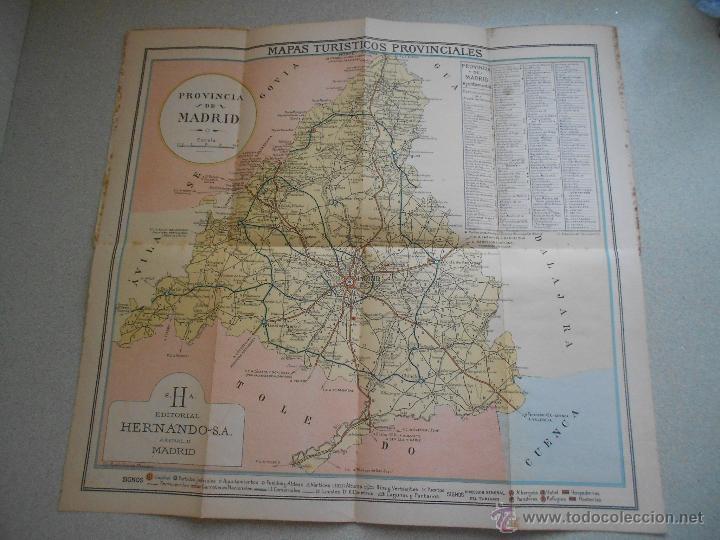 MAPA DE MADRID, EDITORIAL HERNANDO SA, TURISTICOS PROVINCIALES (Coleccionismo - Mapas - Mapas actuales (desde siglo XIX))