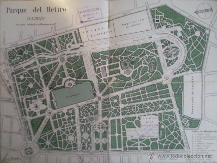 Mapa Parque Del Retiro.Plano Parque Del Buen Retiro Vendido En Venta Directa