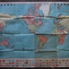 Mapas contemporáneos: MAPA MUINDI - AÑOS 50. Lote 45761012