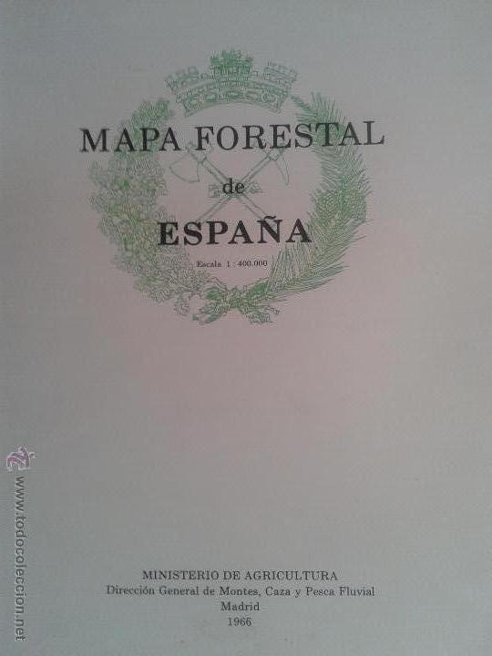 Mapa Forestal De Espana Ministerio De Agricult Sold At Auction