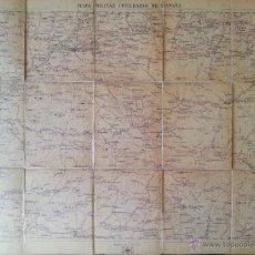 Mapas contemporáneos: MAPA MILITAR ITINERARIO DE ESPAÑA ENTELADO // PROVINCIA DE BURGOS 1918 // HOJA 25. Lote 45829038