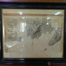 Mapas contemporáneos: PLANO DEL PUERTO DE CARTAGENA CON LA ESCOMBRERA Y ALGAMECA- 1873-1876 - ABC 003-B. Lote 45836976