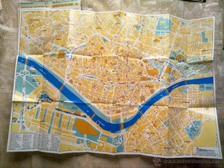 Mapa Callejero De Sevilla.Vendo Callejero Y Mapa Del Centro De Sevilla Con Todos Los Sitios De Interes De La Ciudad