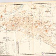 Mapas contemporáneos: MAPA DE SEGOVIA CON SELLO BIBLIOTECA ESCUELA SUPERIOR DE GUERRA AÑO 1924.. Lote 46031828
