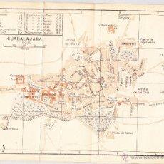 Mapas contemporáneos: MAPA DE GUADALAJARA CON SELLO BIBLIOTECA ESCUELA SUPERIOR DE GUERRA AÑO 1924.. Lote 46032008
